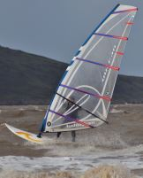 Photo of Martin Farrimond windsurfing at WSM